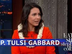 Tulsi Gabbard Stephen Colbert Interview
