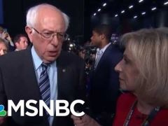 Bernie Sanders Post Debate Interview