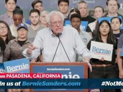 Bernie Sanders Campaign Rally in Pasadena, California