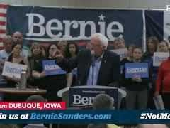Bernie Sanders Campaign Rally In Dubuque, Iowa