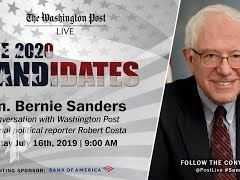 Bernie Sanders Washington Post Live Interview