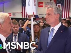 Bill De Blasio Post Debate Interview With Chris Matthews