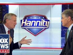 Bill de Blasio Sean Hannity Interview