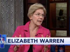 Elizabeth Warren Late Show With Stephen Colbert Interview