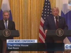 Donald Trump Press Conference With Finnish President Sauli Niinisto