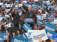 Bernie Sanders Campaign Rally in Long Island City, New York