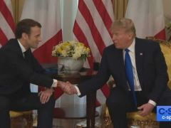 Donald Trump Bilateral NATO Press Conference With Emmanuel Macron