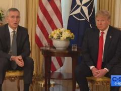 Donald Trump Bilateral NATO Press Conference With NATO Secretary General