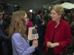 Elizabeth Warren Post Debate Interview With Lisa Desjardins