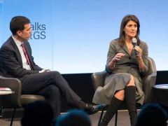Nikki Haley Talks With Goldman Sachs Interview With John Waldron
