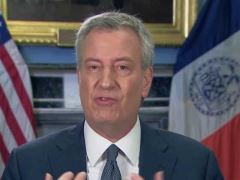 Bill De Blasio Goes Over New York's