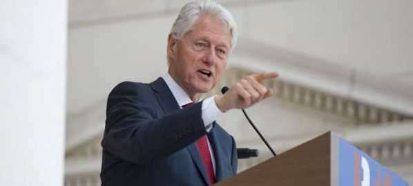 Bill Clinton speaking at the 50th Anniversary of the JFK Assassination in Arlington, VA.