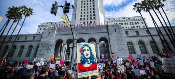 Women's March in Los Angeles, California, January 21st, 2017.