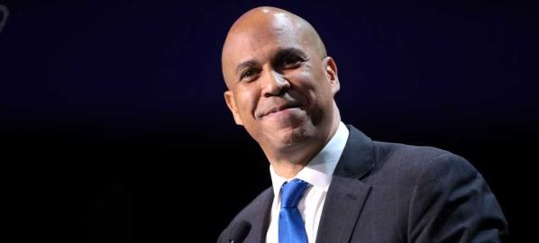 Cory Booker speaking at the 2019 California Democratic Party State Convention.