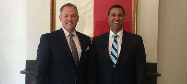 FCC Chairman Ajit Pai with N.C. Lt. Governor Dan Forest.