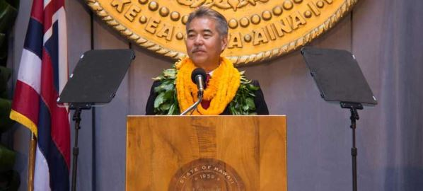 David Ige at his 2014 Governor Inauguration.