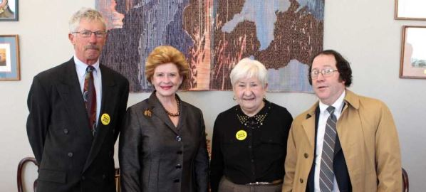 Debbie Stabenow meeting with a constituent and representatives from the Utah Wilderness.