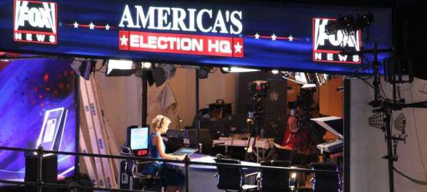Fox News booth at the 2012 Democratic National Convention.