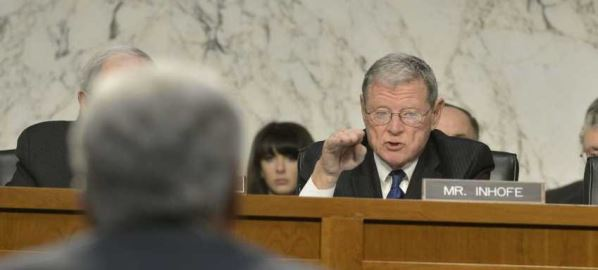 Sen. Jim Inhofe asks Secretary of Defense Chuck Hagel a round of questions, 03/05/2014.