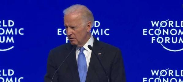 Joe Biden speaking at the 2017 World Economic Forum.