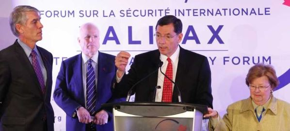 Sen. John Barrasso speak to members at the Halifax International Security Forum in 2012.