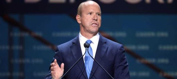 John Delaney speaking at the 2019 California Democratic Party State Convention, 6/19.