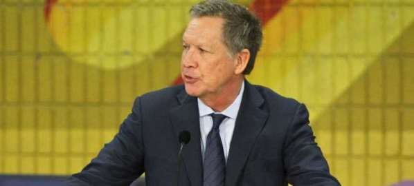 Ohio Gov. John Kasich speaks at New Way California Press event in Los Angeles.