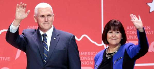 Mike Pence and his wife, Karen Pence.