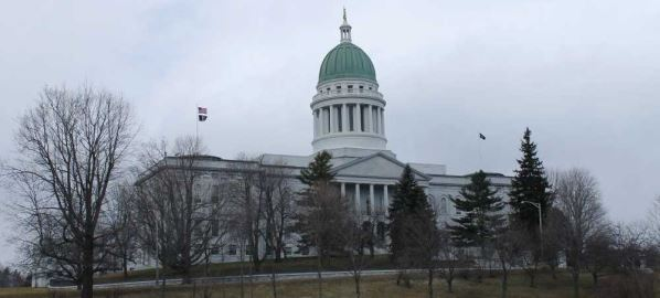 Maine State Capitol building in Augusta, Maine.