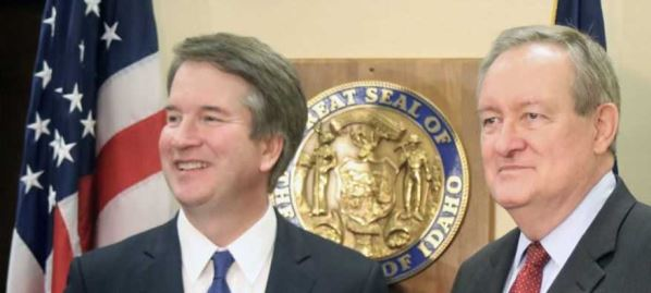 Mike Crapo meeting with Judge Kavanaugh in person, 2018.
