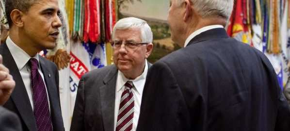Mike Enzi attending the reauthorization of the Elementary and Secondary Education Act.