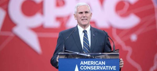 Mike Pence of Indiana speaking at the 2015 Conservative Political Action Conference.
