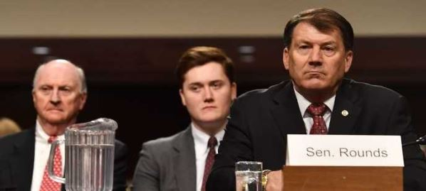 Sen. Mike Rounds attending Senate Armed Services Committee, March 30, 2017.