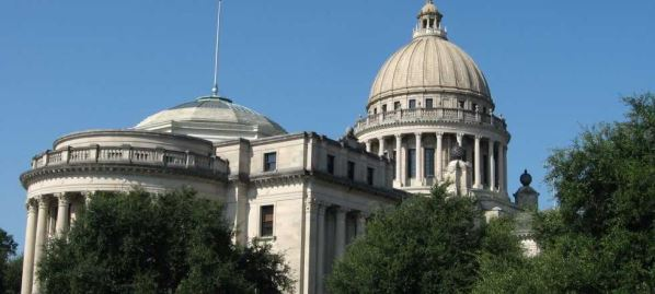 Mississippi State Capitol in Jackson, Mississippi.