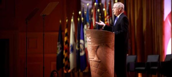 Mitch McConnell speaking at the 2014 CPAC Conference.