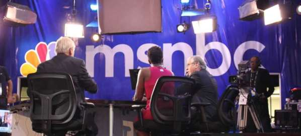 MSNBC commentators reporting from the 2012 Democratic National Convention.