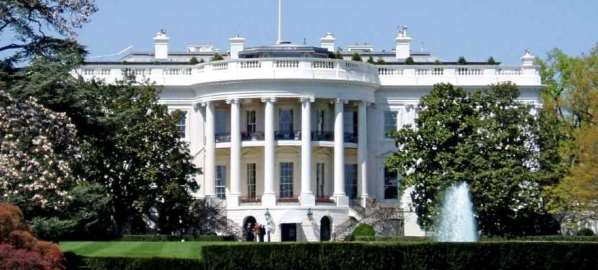 The White House, the executive mansion of the President of U.S.A.