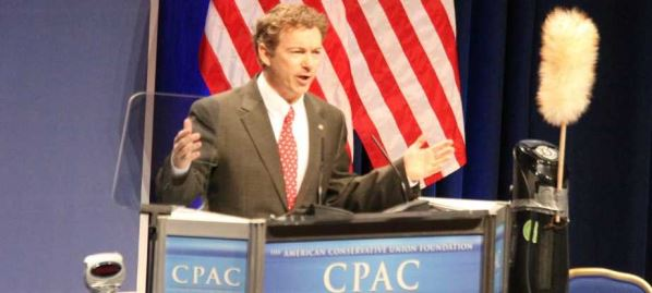 Rand Paul speaking at CPAC in 2011.