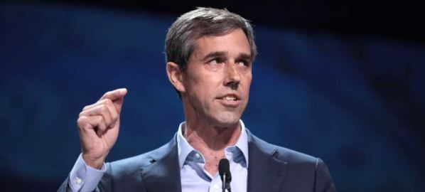 Beto O'Rourke speaking at the 2019 California Democratic Party State Convention.