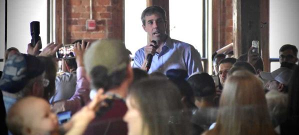 Beto O'Rourke campaign stop at Natty Greene's in Greensboro, North Carolina.