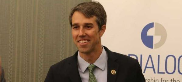 Democratic candidate Beto O'Rourke at the Inter-American Dialogue in 2016.