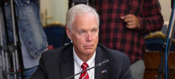 Senator Ron Johnson attending the congress delegation in the Russian Federation Council.