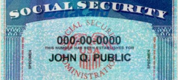 Social Security card featuring name John Q Public.