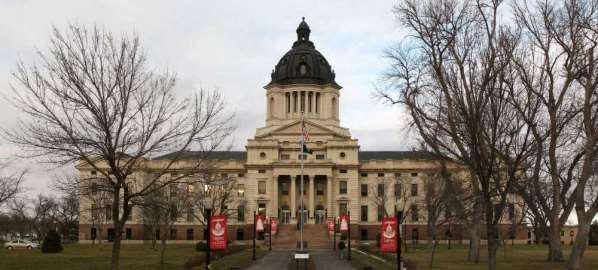 The South Dakota State Capitol building in Pierre, South Dakota.
