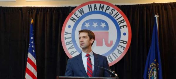 Tom Cotton speaking at the First In The Nation Townhall, New Hampshire, 01/23/2016.