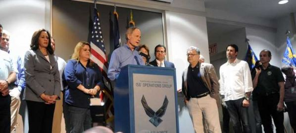 Tom Carper (D-DE) speaking at the Muñiz Air National Guard Base 11/6/2017.