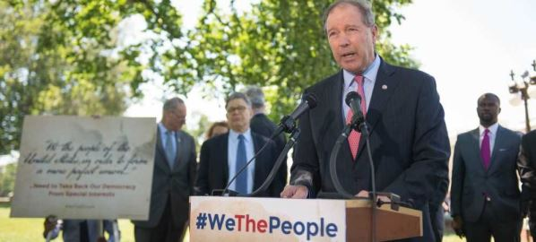 Sen. Tom Udall announces legislation to hold the government more accountable, 06/09/2016.